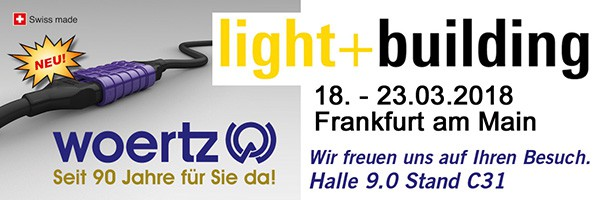 Banner Light+Building Woertz 2018