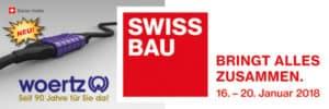 Banner Swissbau Woertz 2018 DE
