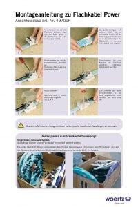 Download Montageanleitung Flachkabel Power