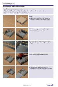 Montageanleitung Unterflursystem