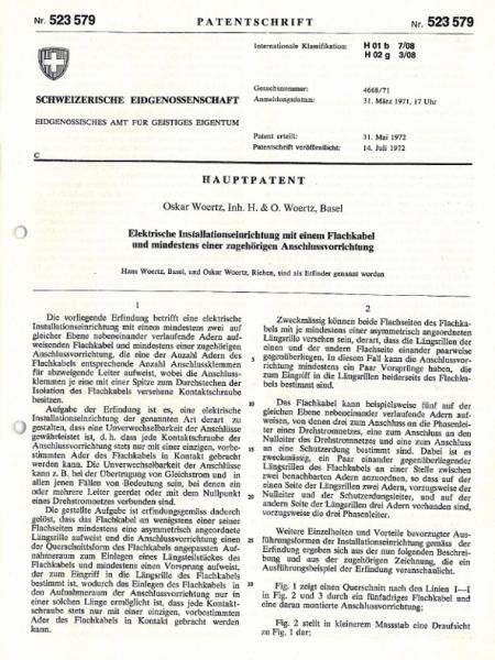 Patent Flachkabel