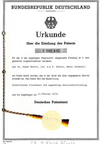 Patent Flachkabel DE