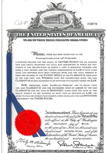 Patent Flachkabel USA